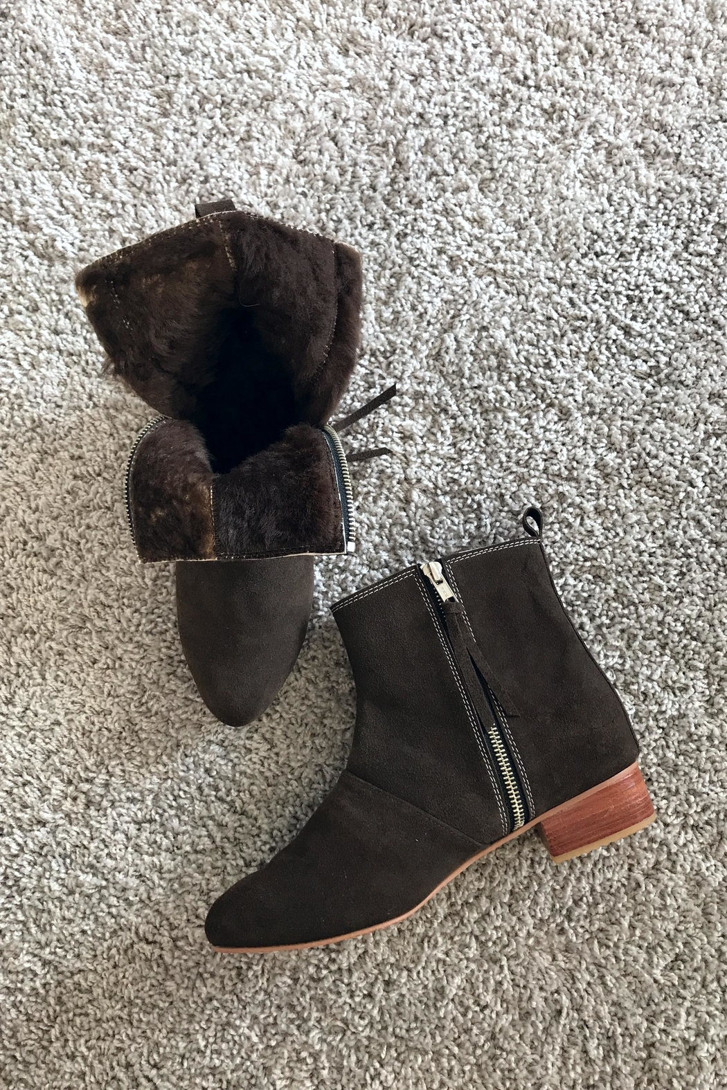Be Mae Shoes Becx Lamb Fur Booties - Front Full Image
