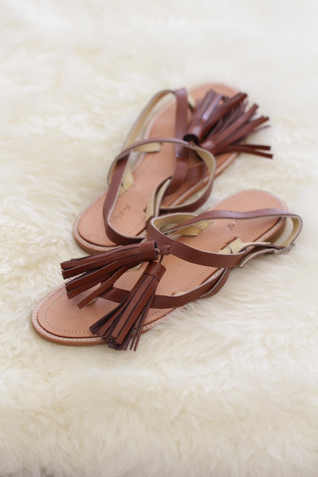 Be Mae Shoes Chicky Leather Sandals - Front Cropped Image