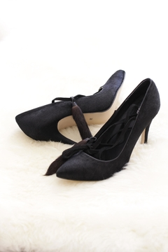 Shoptiques Product: Cowhide Strappy Heels