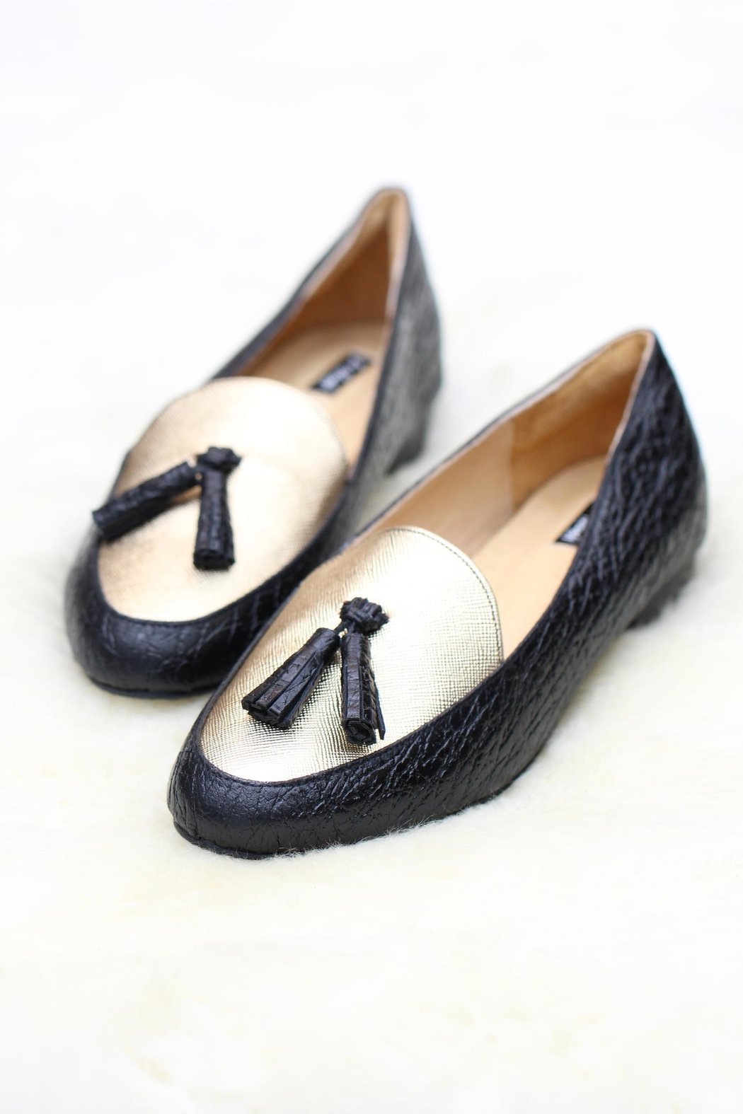 Be Mae Shoes Florence Leather Flats - Front Cropped Image