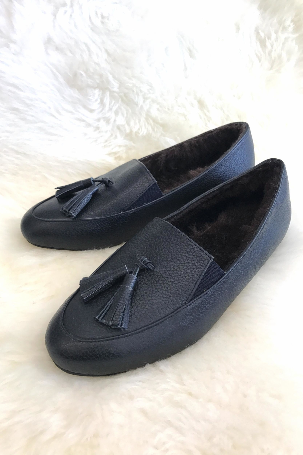 Be Mae Shoes Fluffy Lambfur Loafers - Main Image