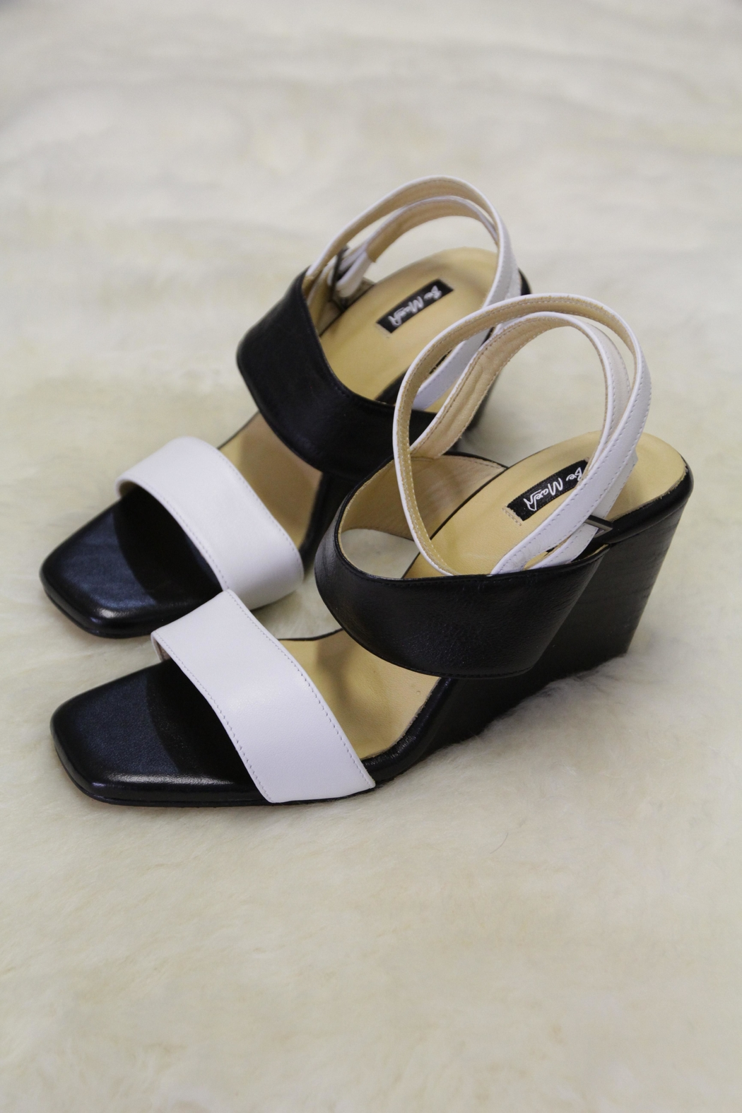 Be Mae Shoes Jessica Leather Wedges - Front Cropped Image