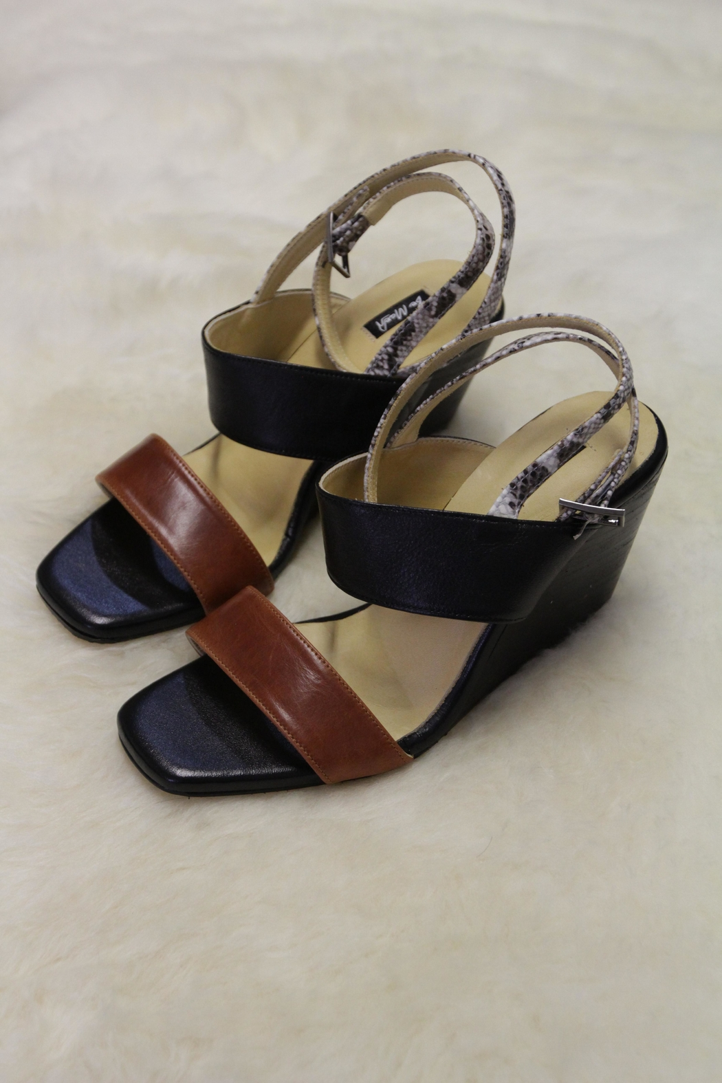 Be Mae Shoes Jessica Leather Wedges - Main Image
