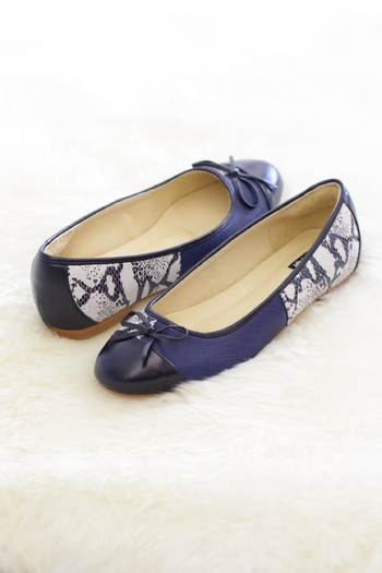 Be Mae Shoes Juene Leather Flat - Main Image