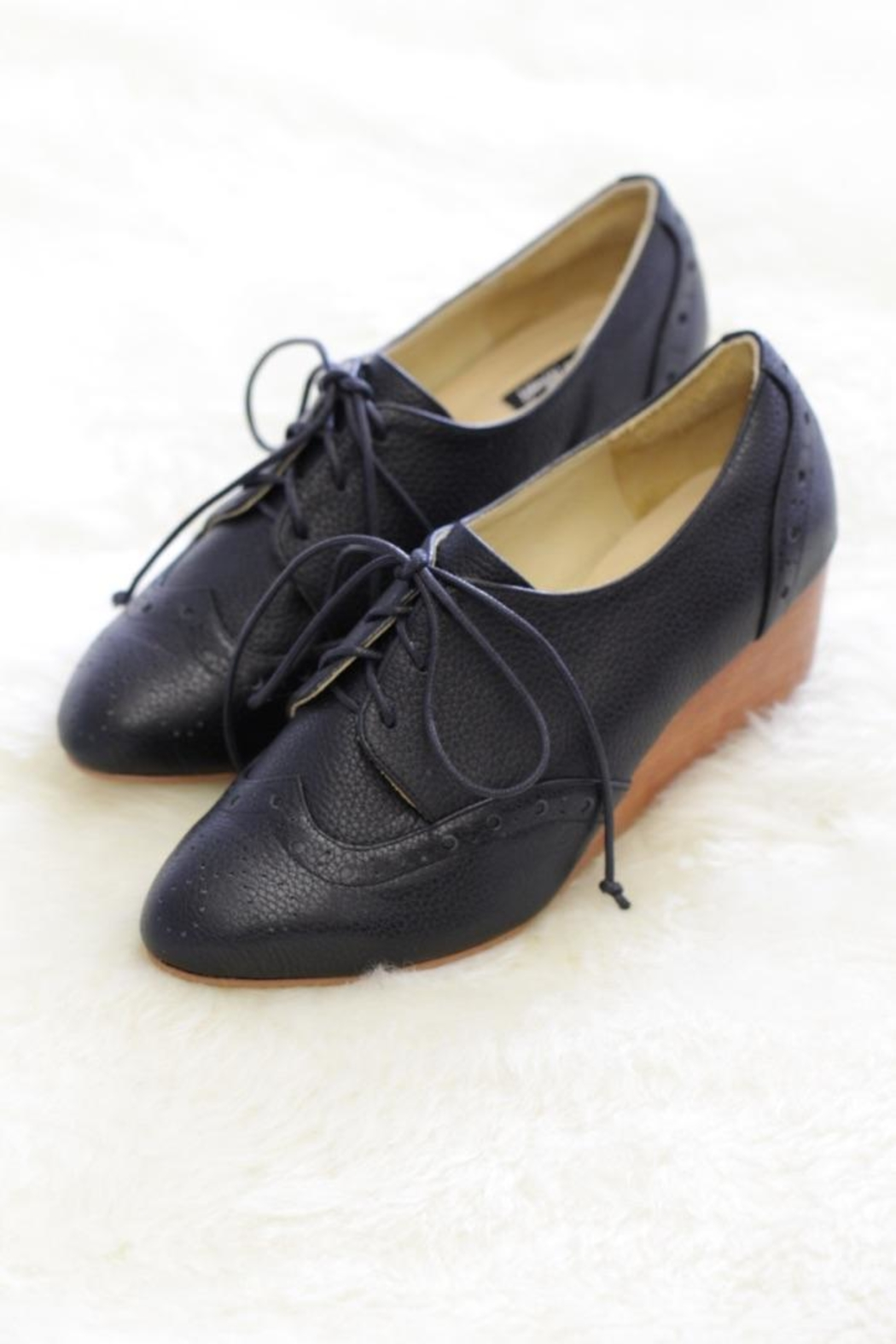 Be Mae Shoes Julia Leather Wedges - Main Image