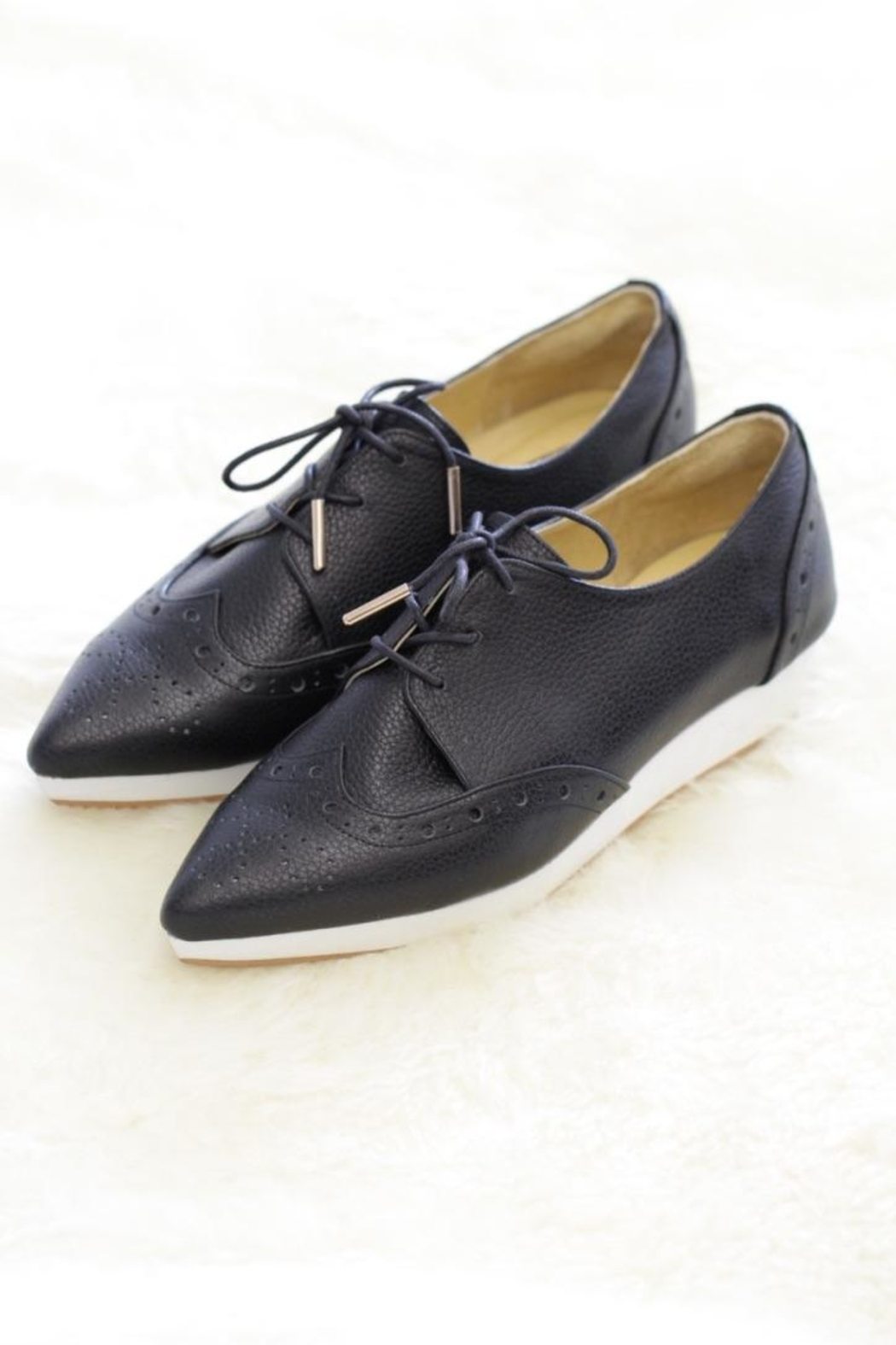 Be Mae Shoes Michele Leather Brogues - Front Cropped Image