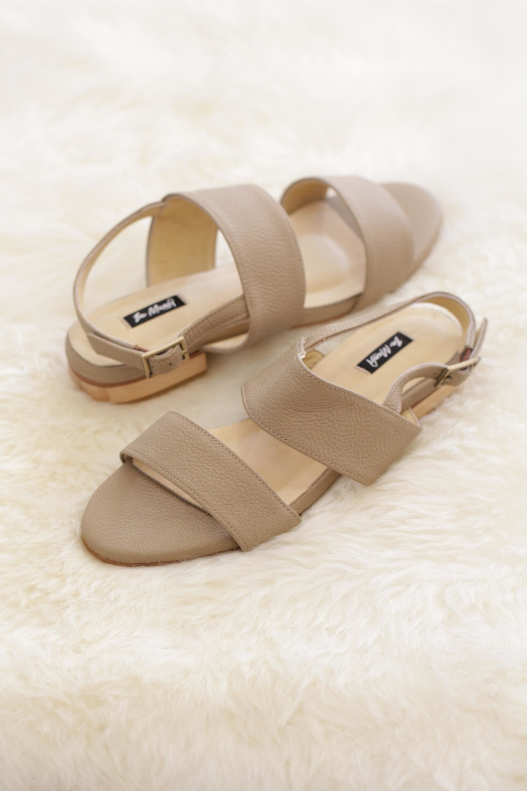 Be Mae Shoes Nikki Leather Sandals - Front Cropped Image