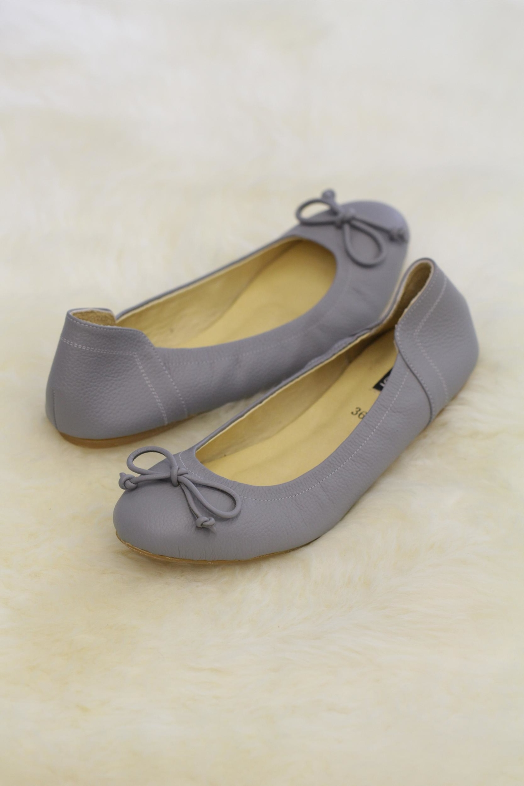 Be Mae Shoes Odette Leather Ballet - Front Cropped Image