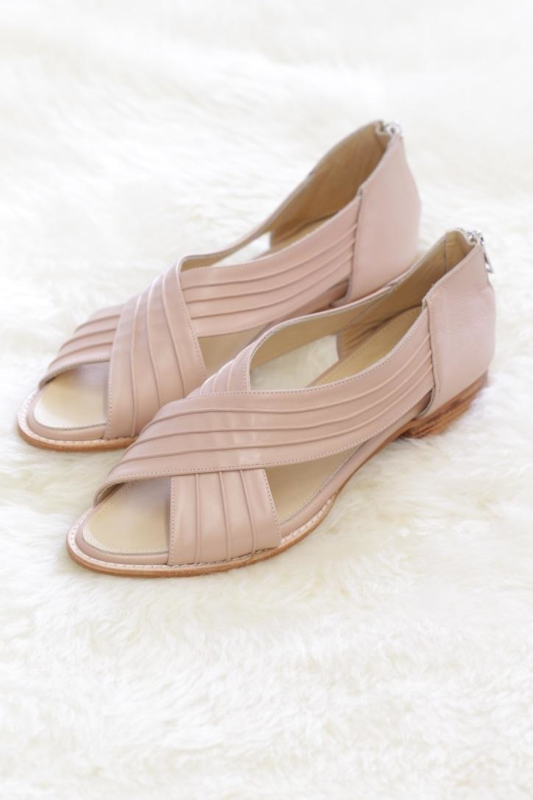 Be Mae Shoes Rose Leather Flats - Front Cropped Image
