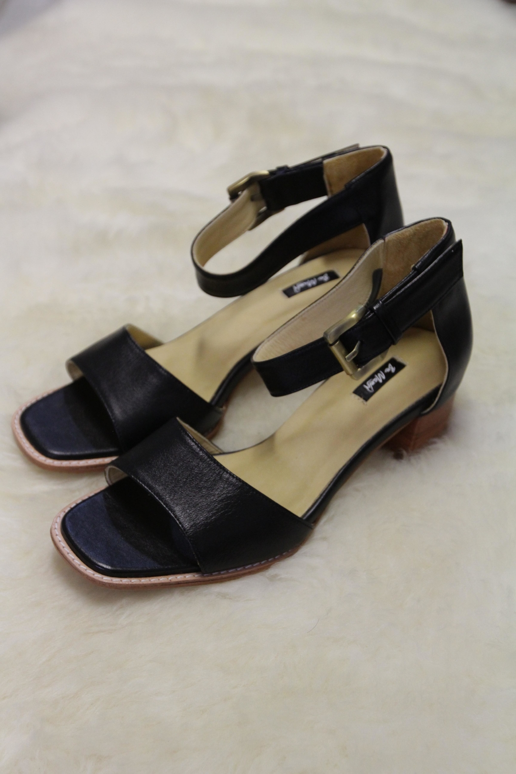 Be Mae Shoes Sabine Leather Sandals - Front Cropped Image