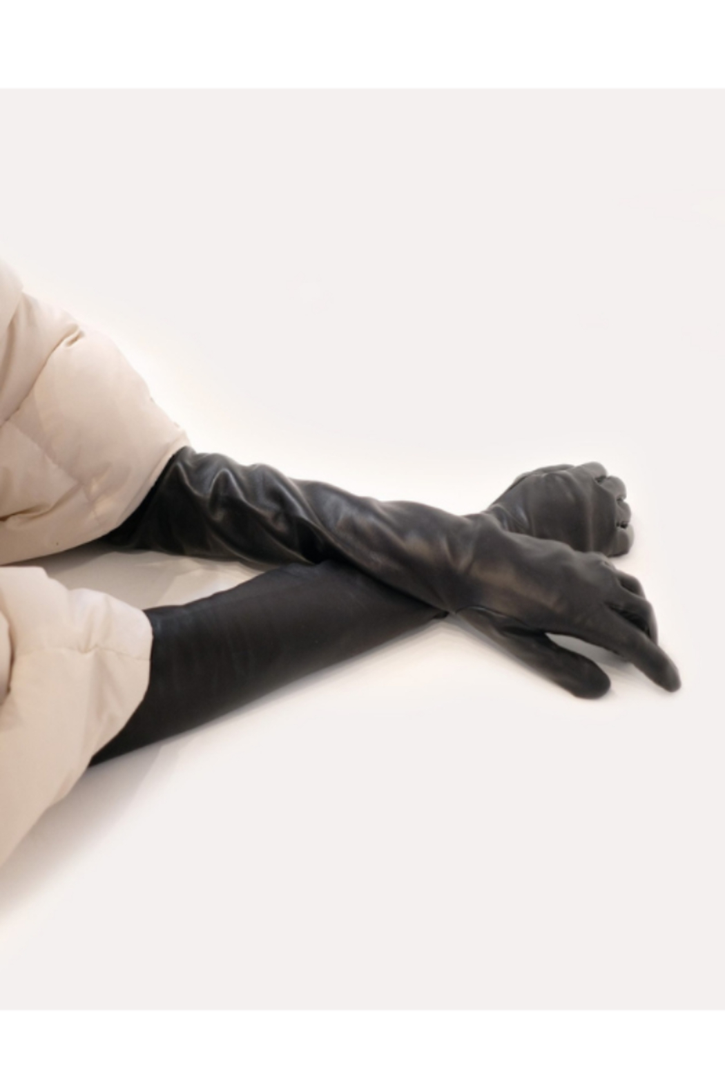 Cynthia Rowley Bea Long Leather Gloves - Main Image