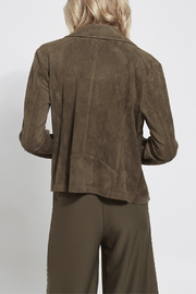 Lysse Bea Suede Moto Jacket - Front full body