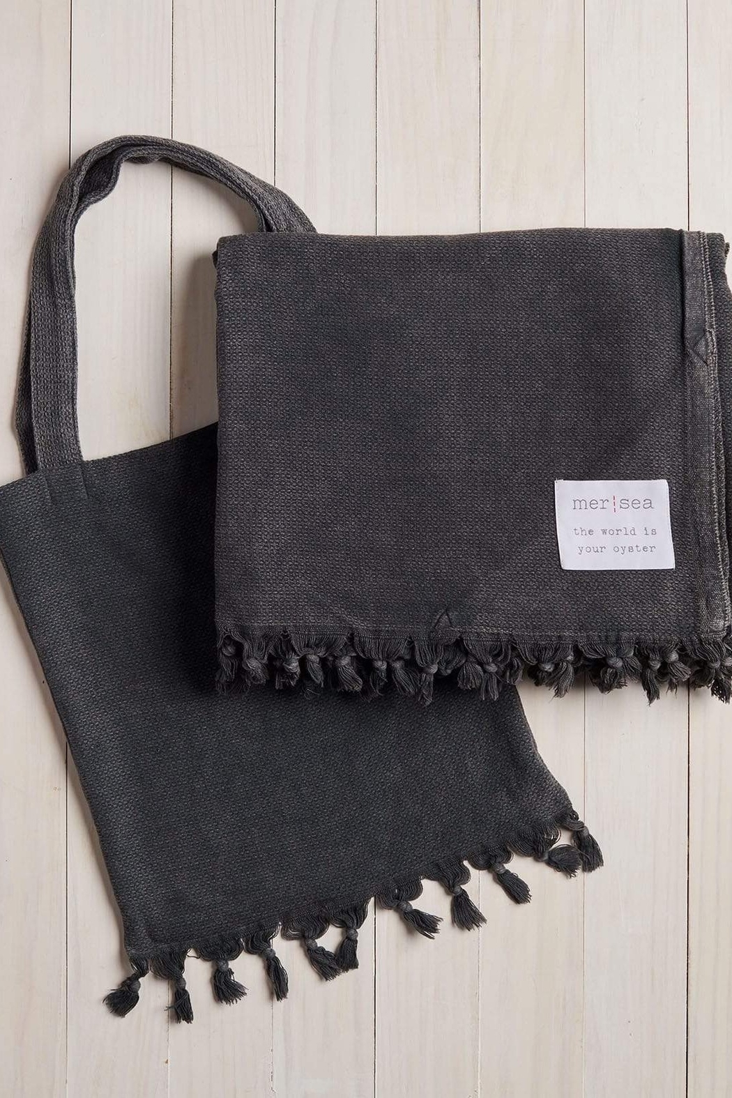 Mer Sea & Co Beach Blanket With Tote Bag - Front Full Image