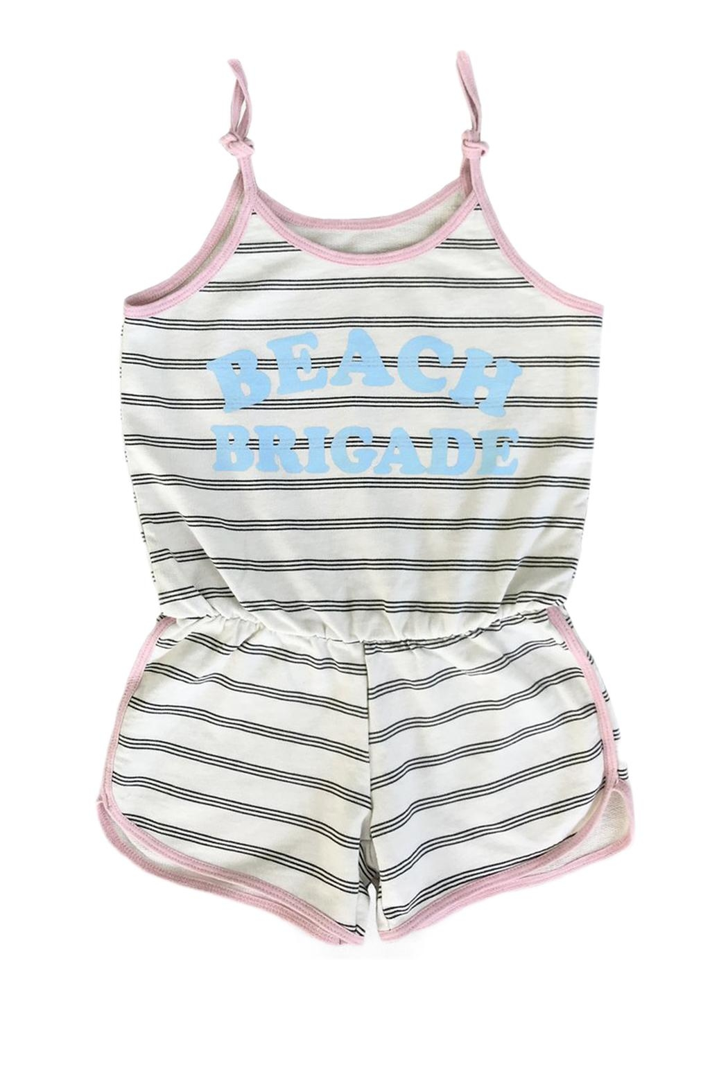 TINY WHALES Beach Brigade Romper - Front Cropped Image