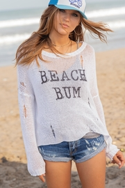 Wooden Ships Beach-Bum Distressed Sweater - Front cropped