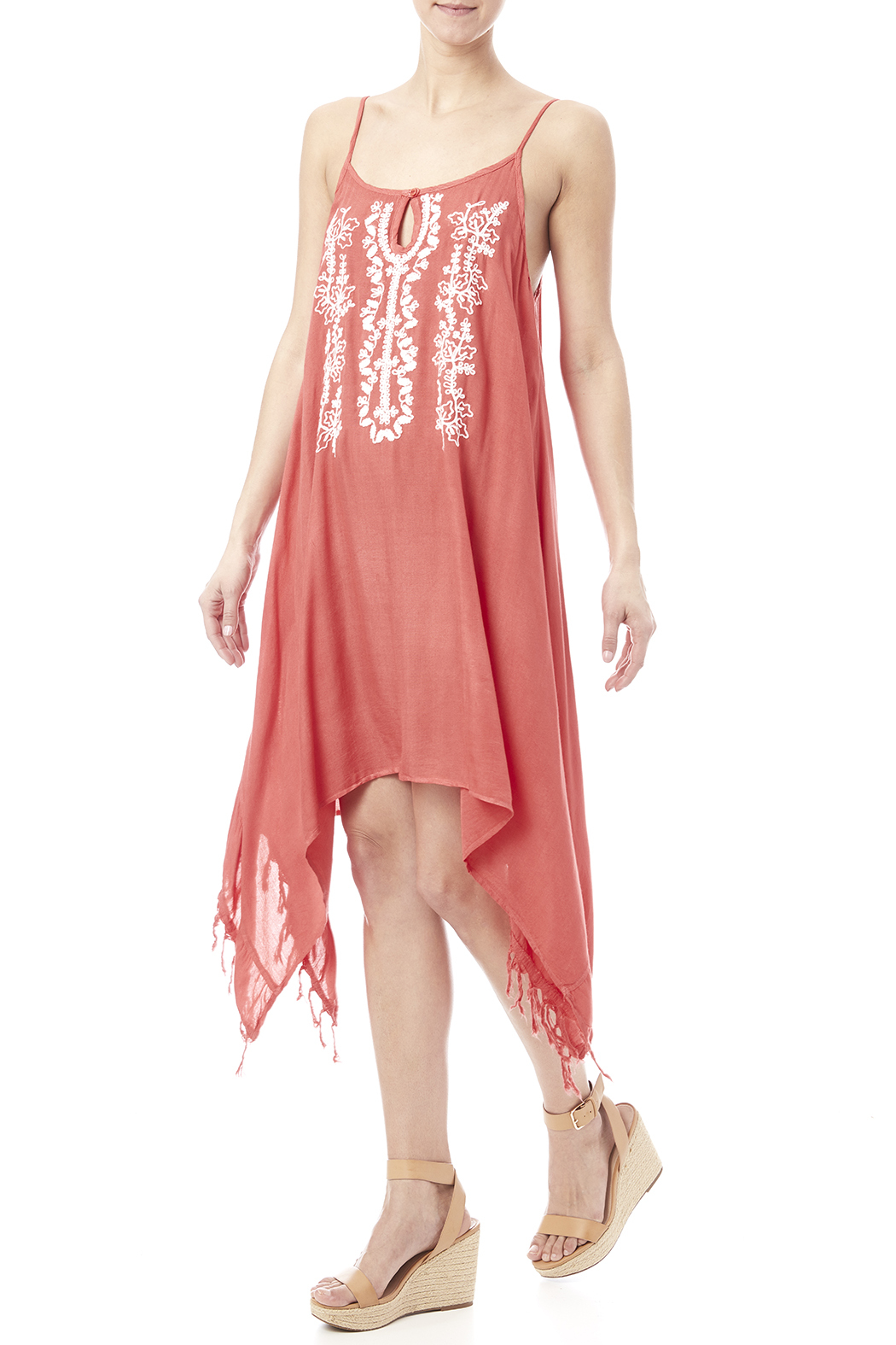 abab52ffbf Beach by Exist Embroidered Drape Dress from Idaho by Garment ...