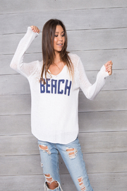 Wooden Ships Beach Cotton VNeck - Front cropped