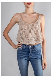 storia Beach-Days Knit Crop-Top - Product Mini Image