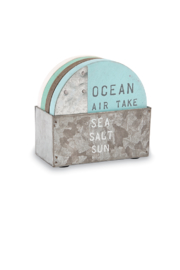 Mud Pie Beach House Coasters - Front cropped