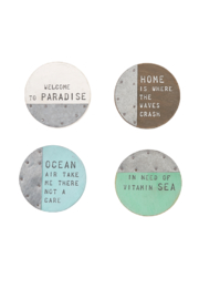 Mud Pie Beach House Coasters - Front full body