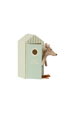 Maileg Beach Mice - Big Brother Mouse In Cabin De Plage - Product List Image