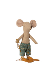 Maileg Beach Mice - Big Brother Mouse In Cabin De Plage - Side cropped
