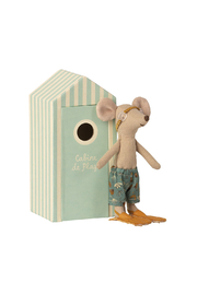 Maileg Beach Mice - Big Brother Mouse In Cabin De Plage - Front full body