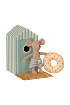 Maileg Beach Mice - Little Brother In Cabin De Plage - Product List Image