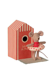 Maileg Beach Mice - Little Sister In Cabin De Plage - Front cropped