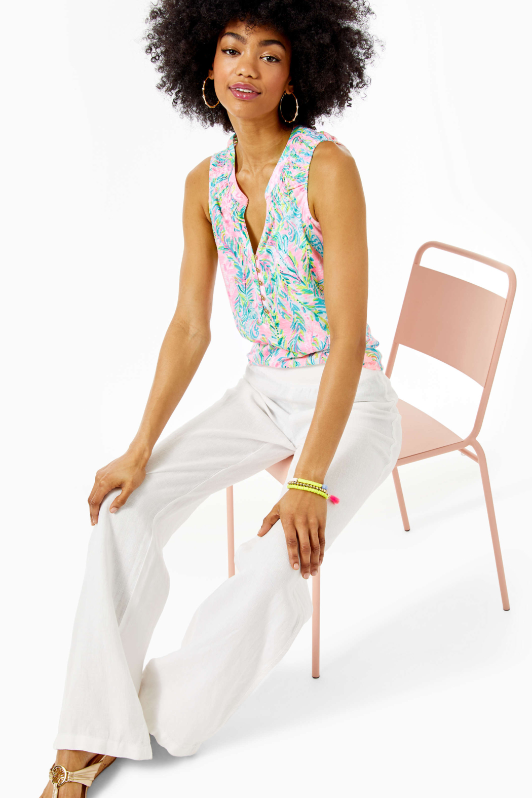 Lilly Pulitzer Beach Palazzo - Back Cropped Image