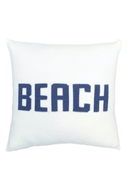 Wooden Ships beach pillow - Front cropped