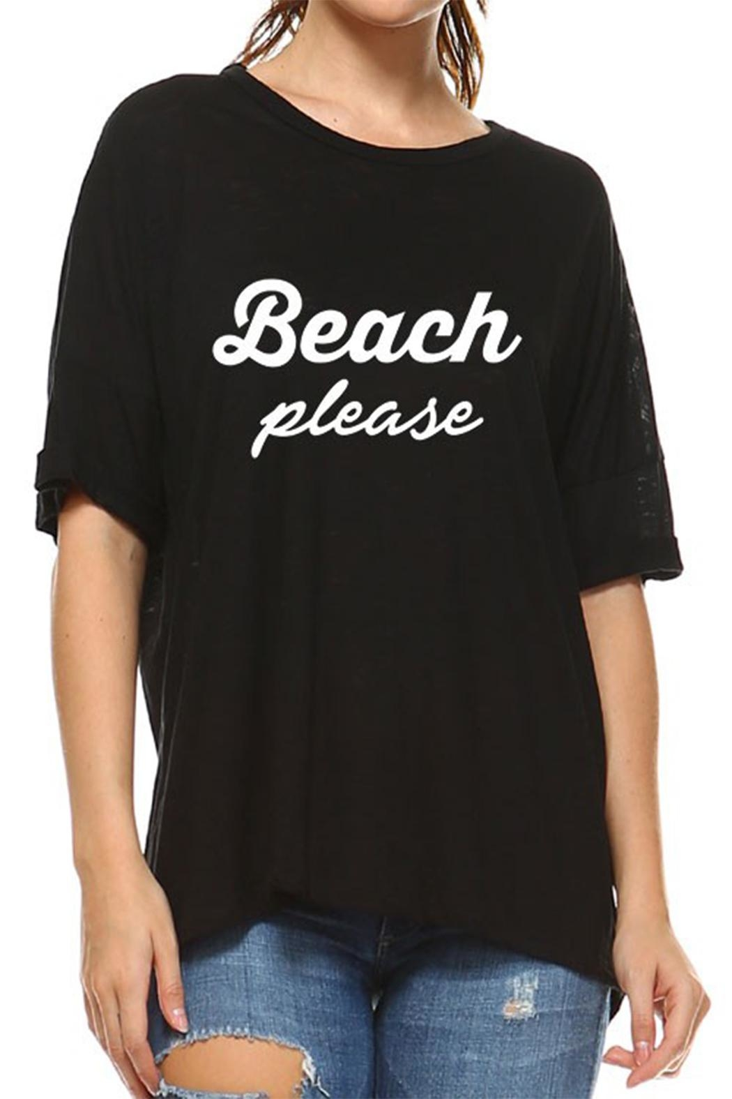 Rock N' Karma Beach Please Tee - Front Cropped Image
