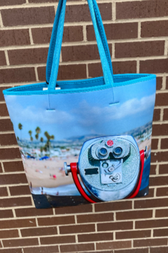 Ahdorned Beach Scene Neoprene Tote - Alternate List Image