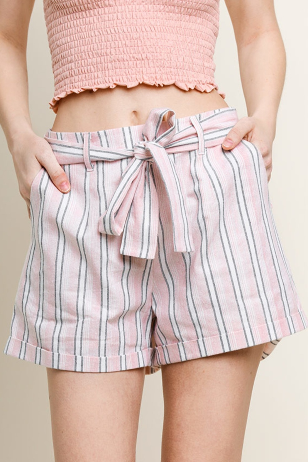 Umgee USA Beach Style shorts - Front Cropped Image