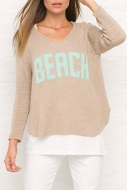 Wooden Ships Beach V-Neck Sweater - Product Mini Image