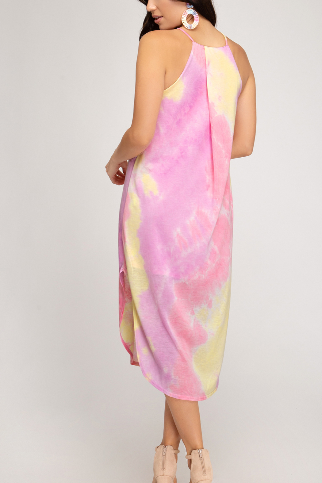 She and Sky Beach Vibes dress - Front Full Image