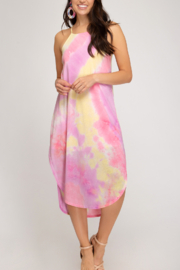 She and Sky Beach Vibes dress - Front cropped