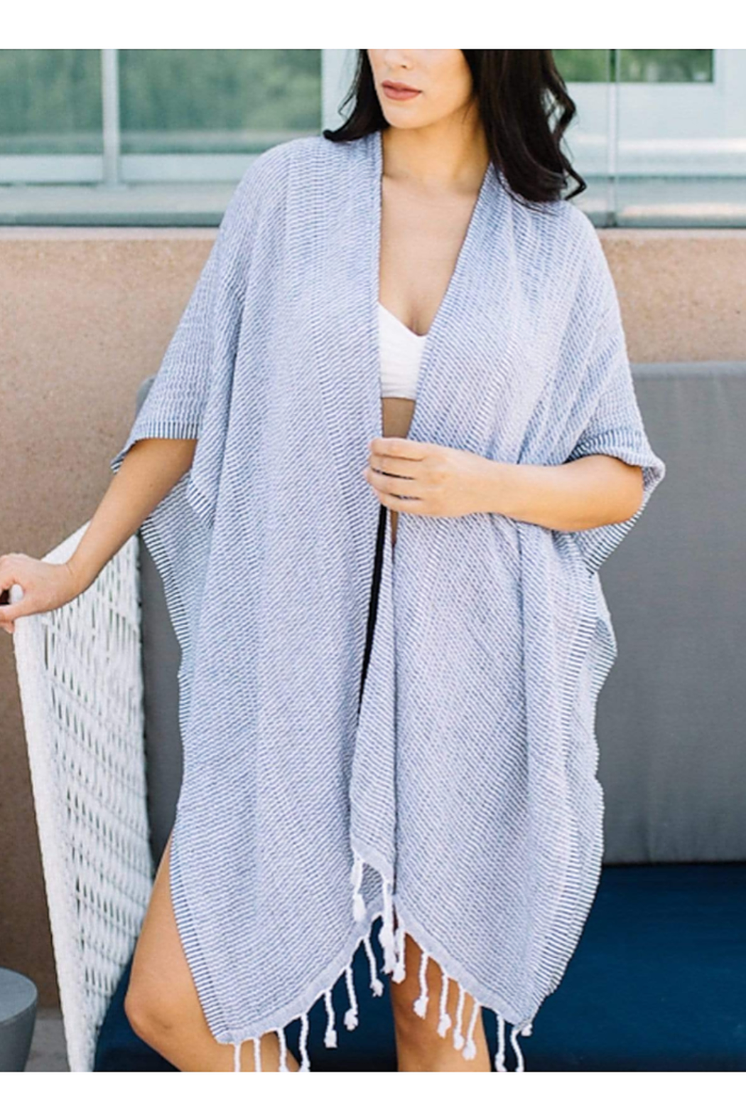 The Birds Nest BEACH WRAP WITH TOTE - Main Image