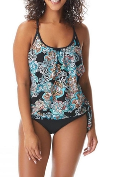 Beach House Double Layer Tankini Top - Product List Image