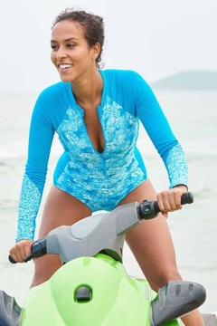 Beach House Zip Front Rash Guard - Product List Image