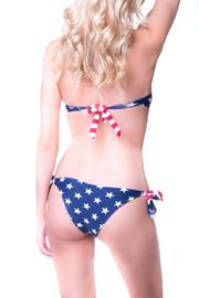 beach joy Flag Bikini Bottoms - Front full body