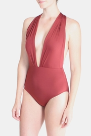 beach joy Red Twist Swimsuit - Product Mini Image