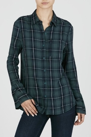 Beach Lunch Lounge Bell Sleeve Plaid Shirt - Product Mini Image