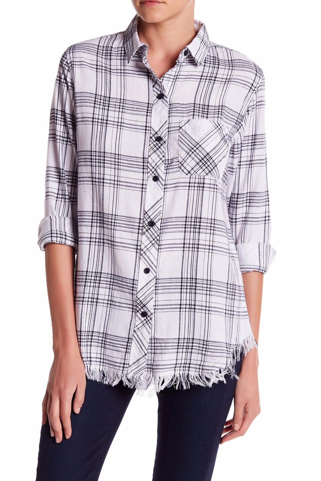 Beach Lunch Lounge Elyse Frayed Hem Shirt - Main Image