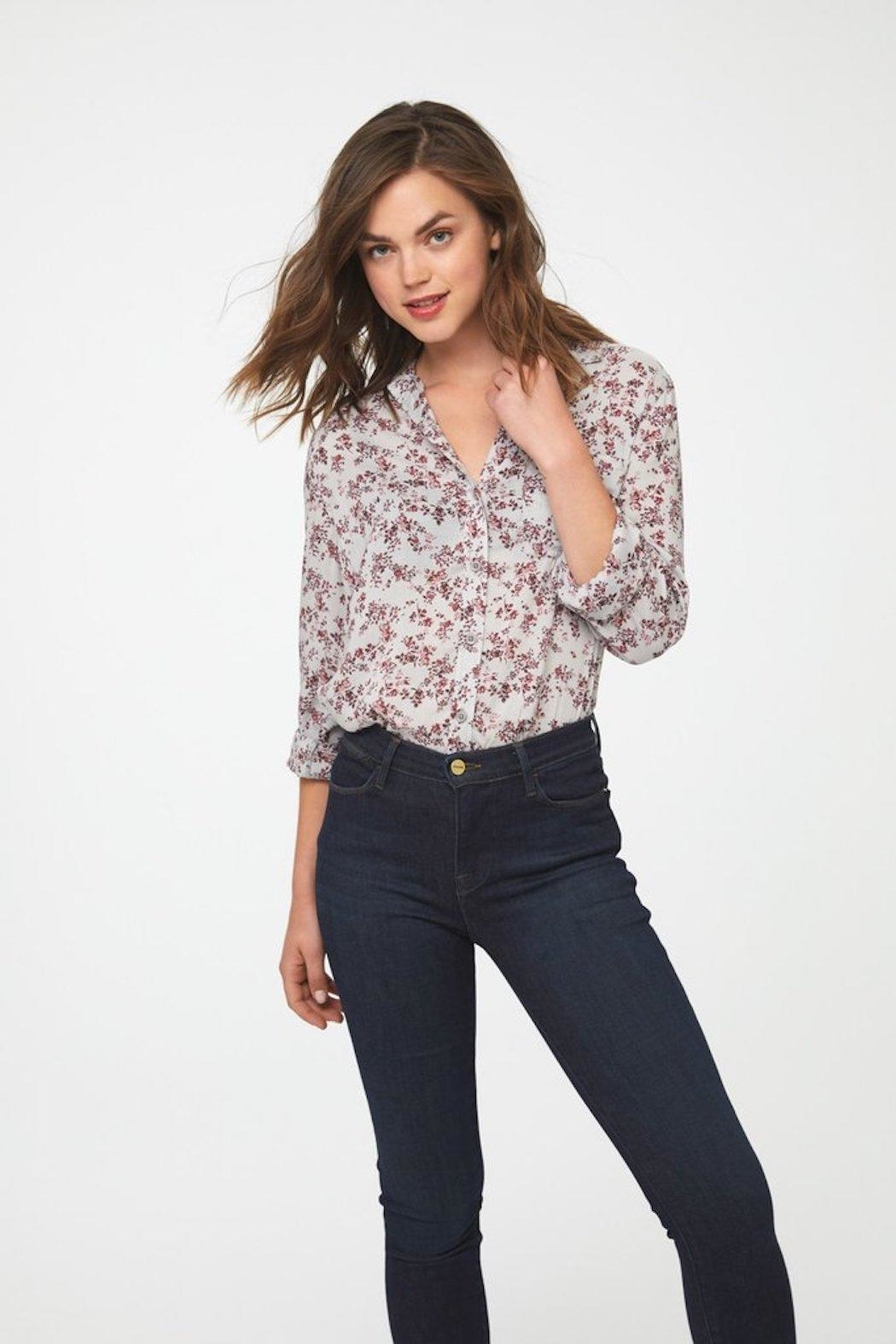 beachlunchlounge Floral Button Down - Front Full Image
