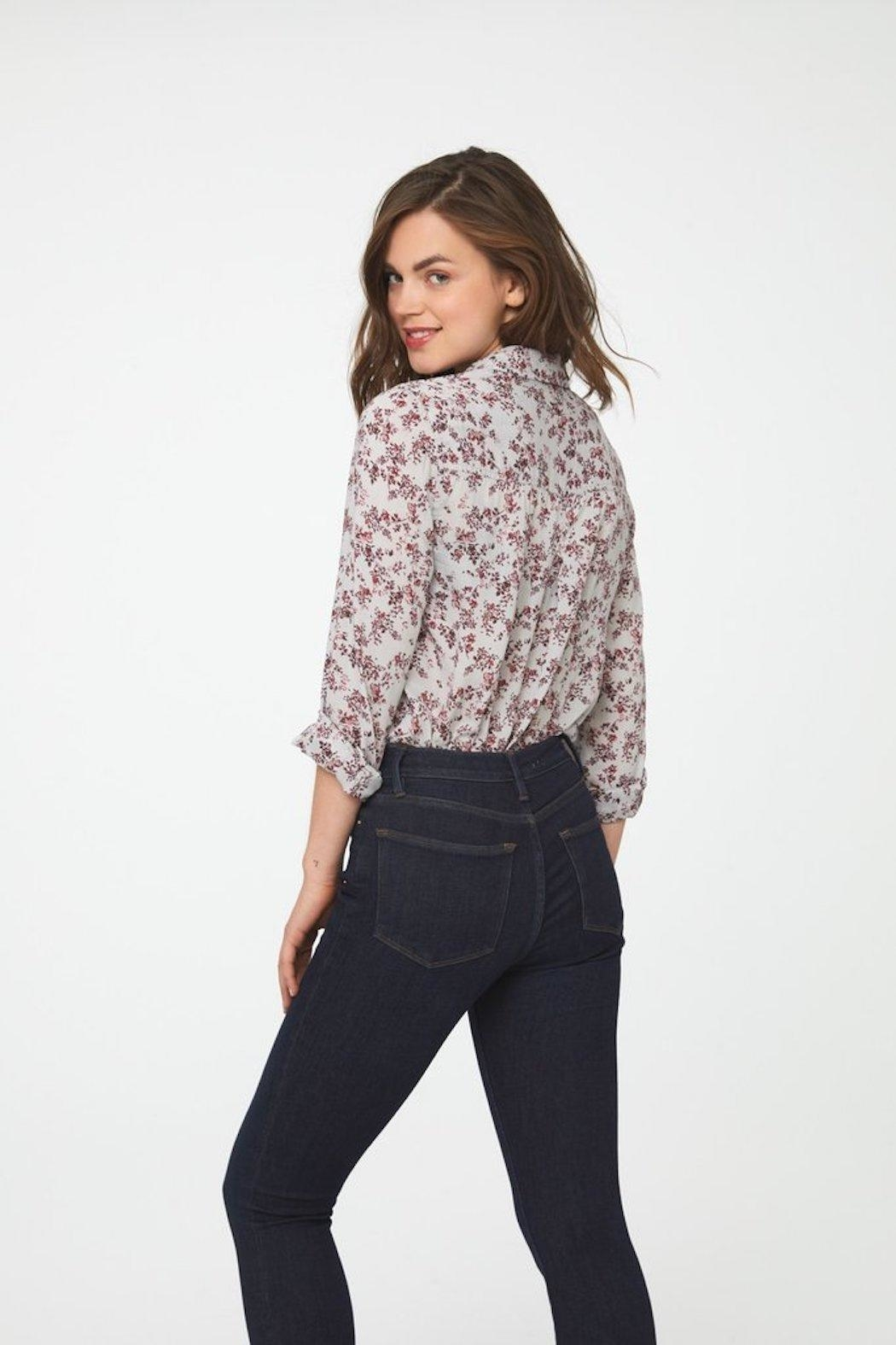 beachlunchlounge Floral Button Down - Side Cropped Image