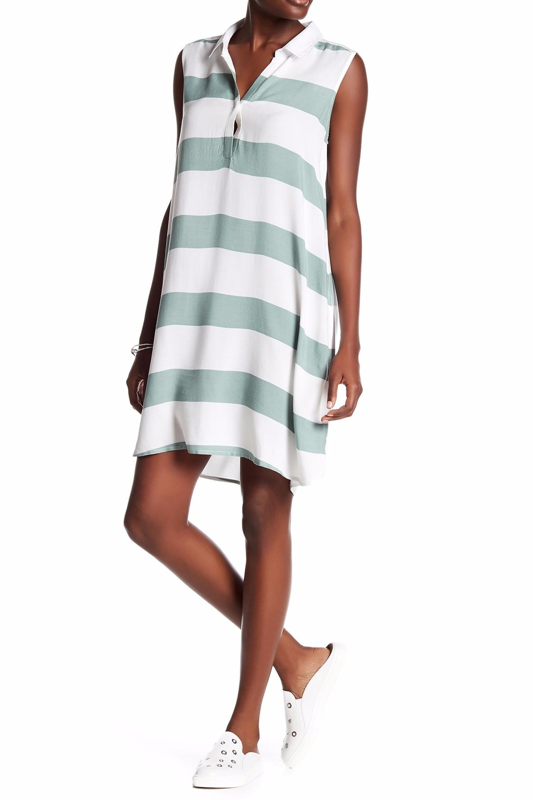 Beach Lunch Lounge Knit Shift Dress - Front Cropped Image