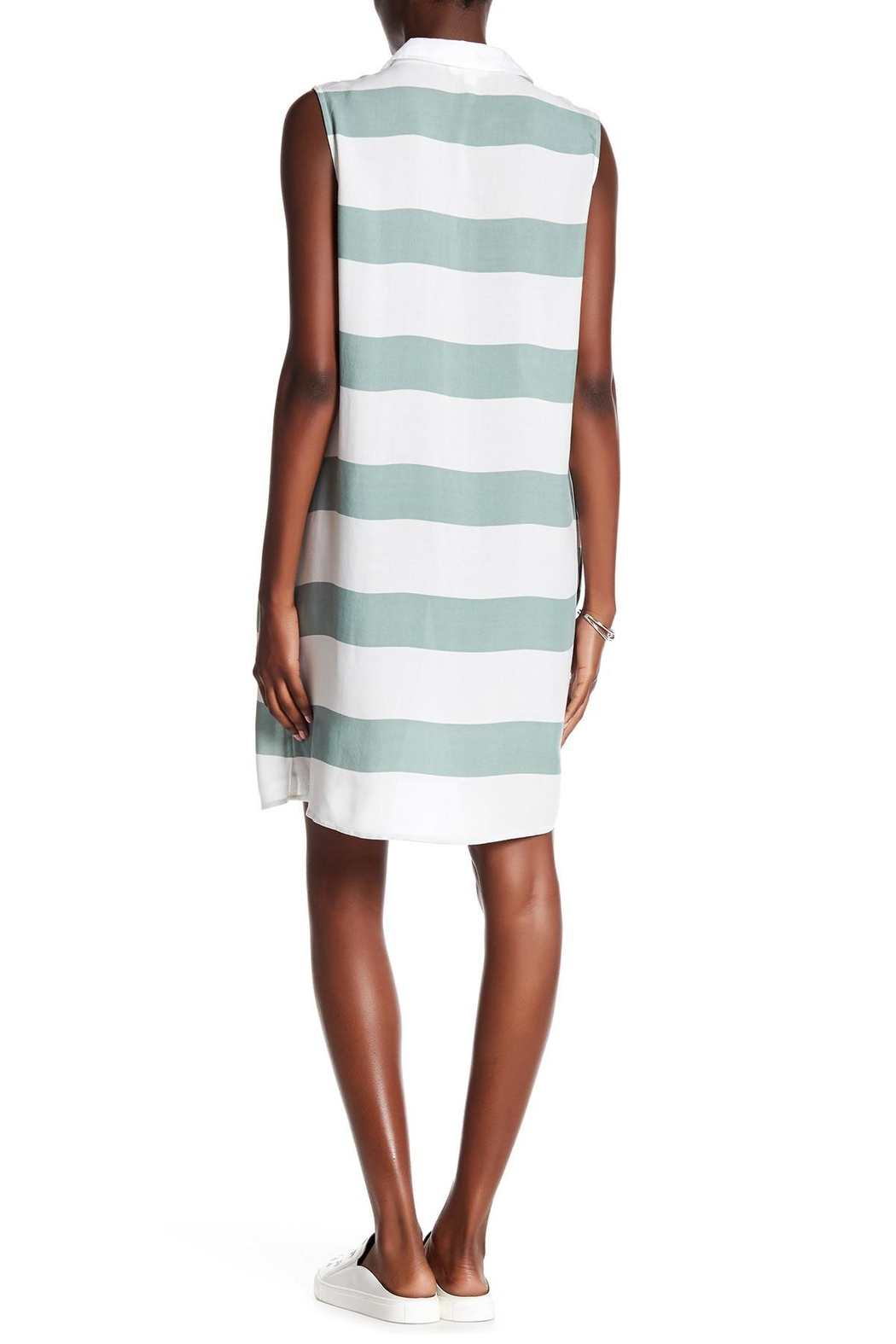 Beach Lunch Lounge Knit Shift Dress - Front Full Image