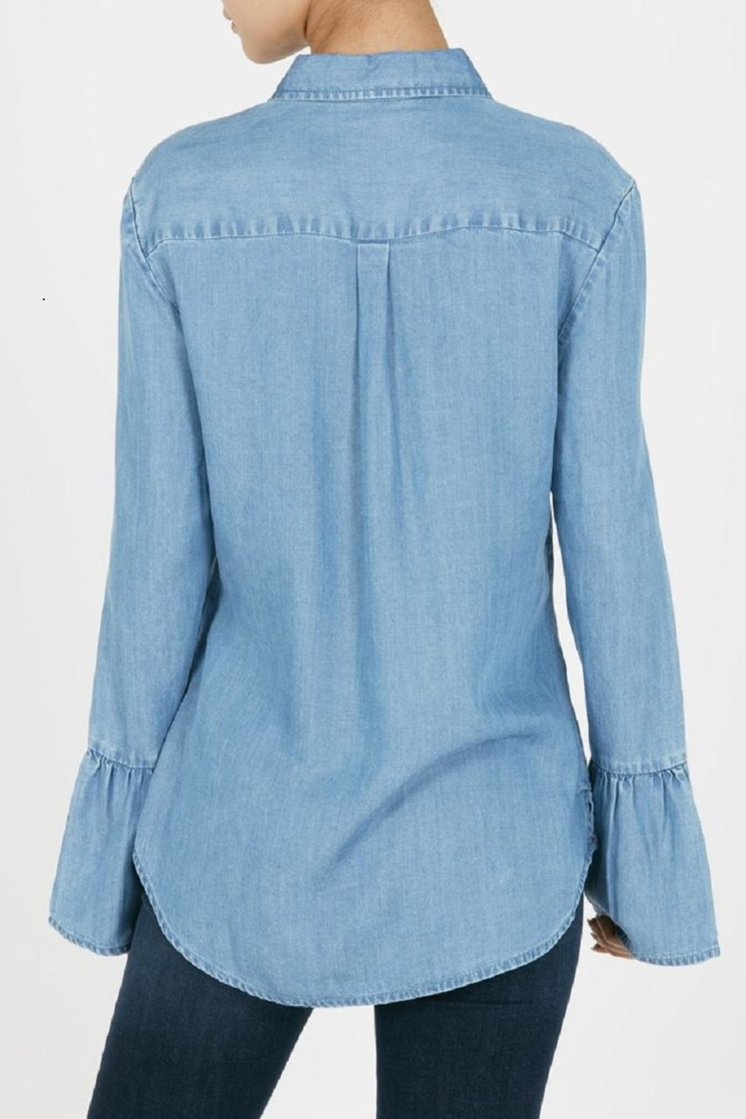 Beach Lunch Lounge Natalia Bell Sleeved Denim - Front Full Image