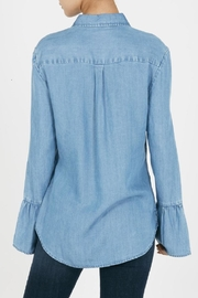 Beach Lunch Lounge Natalia Bell Sleeved Denim - Front full body
